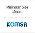 Minimum size 15mm KOMSA